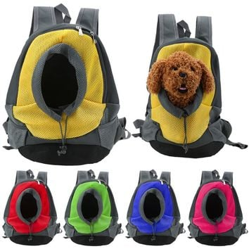 Pet Dog Carrier Backpack Bag Portable Mesh Head Out Double Shoulder Bag for Small Dog Puppies Travel Bag Pet Product