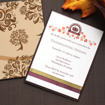 Thanksgiving Invitation - Party Invitation