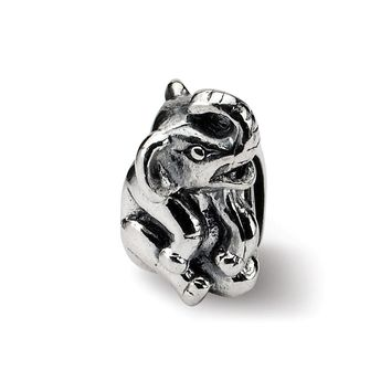 Sterling Silver Sitting Elephant Bead Charm