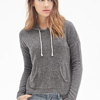 FOREVER 21 Chenille Drawstring Hoodie