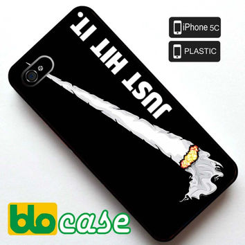 Just Hit It Nike Parody Logo Iphone 5C Plastic Case