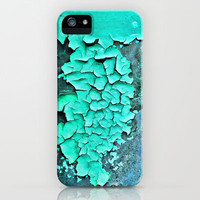 aqua paint iPhone/SamsungS4 & iPod Case by Sylvia Cook Photography