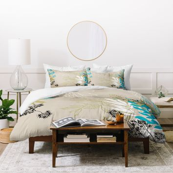 Juliana Curi Natural Leaves Duvet Cover