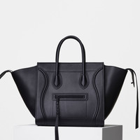 Medium Luggage Phantom Handbag in Supple Calfskin