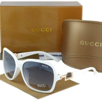 Gucci Stylish Women Men Casual Sun Shades Eyeglasses Glasses Black White Frame I