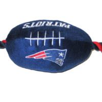 New England Patriots Doggie Plush Football Toy