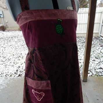 Burgundy Patchwork Grateful Dead Terrapin Sundress Hippie Patchwork Dress Festival Dress, OOak Dress, Corset Dress summer dress, hippie