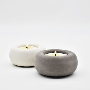 New Concrete Candle Holder