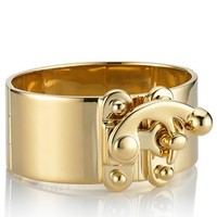 Gold Plated Hook Latch Cuff | Eddie Borgo | Avenue32
