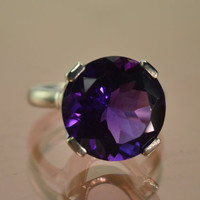 The Prince Ring, with 11ct African Amethyst (sizes 6.5, 7.5)