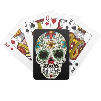 Day Dead Sugar Skull Poker Playing Cards