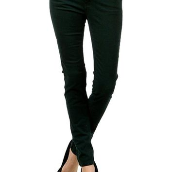 Colored Skinny Jeans, Hunter Green (Size 1)