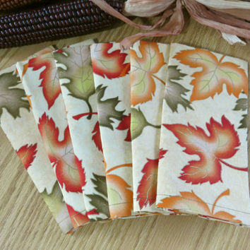 Fall Napkins Autumn Leaves 641