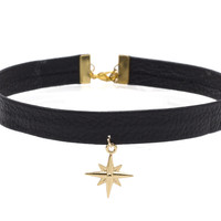 Starlight Leather Choker