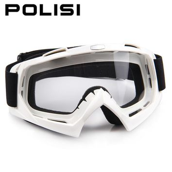 POLISI Motorcycle Dustproof Glasses Motocross Off-Road Dirt Bike Downhill Racing Goggles UV Protection Ski Snowboard Eyewear