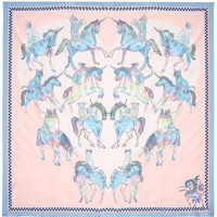 Trippy Kitty Scarf, Silken Favours. Shop the latest Silken Favours collection at Liberty.co.uk