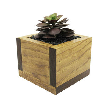 Modern Planter, Planter Box, Mini Planter, Succulent Planter, Wood Planter, Succulent Pot, Succulent Gift, Indoor Planter, Rustic Planter