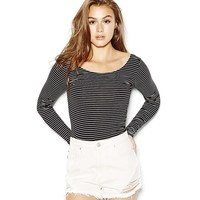 Striped Banded Back Tee