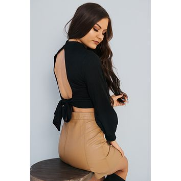 Absolutely Unforgettable Crop Top (Black)