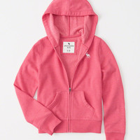 girls icon fleece full-zip hoodie | girls tops | Abercrombie.com