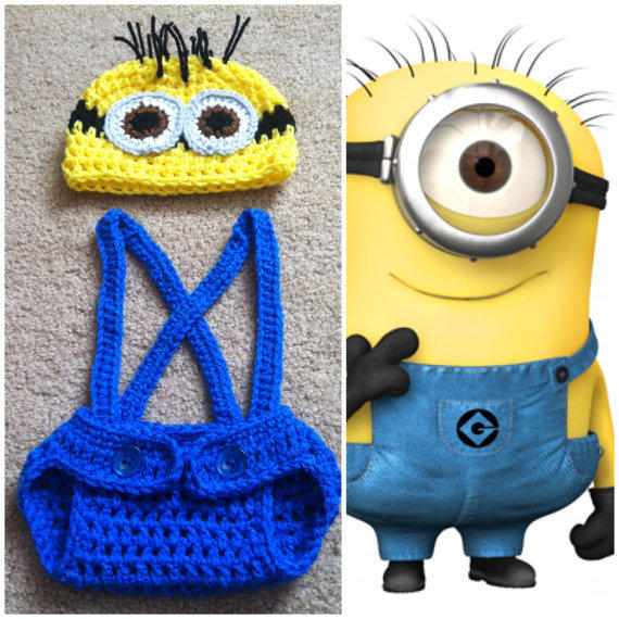 Crochet Despicable Me Minion Outfit from Potterfreakg on Etsy