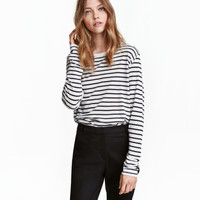Long-sleeved Top - from H&M