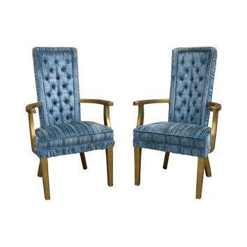 Pre-owned Hollywood Regency Side Chairs - A Pair