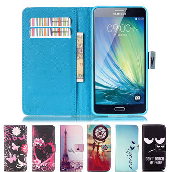 Flip Leather Phone Case Wallet Stand Cover for Samsung Galaxy A3 A7 A5 J5 J7 2015 2016 Core Grand G530 G360 S3 S4 S5 S6 S7 Edge