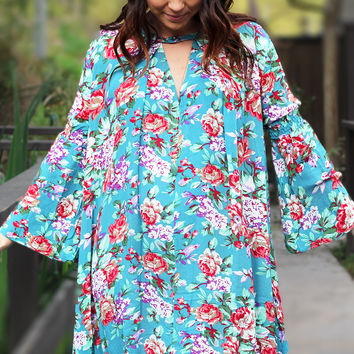Love You Always Floral Tunic Dress