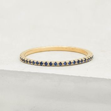 Eternity Ring - Gold with Sapphire