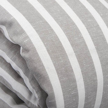 Linen duvet cover, soft linen/ cotton bedding, gray duvet cover, striped bedding, bedding set, gray linen bedding, bedding, flax bedding