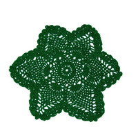 Green 6 Pointed Star Pineapple Doily St Patrick's Day