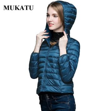 90% White Duck Down Jacket Women 2016 Hooded Ultra Light Down Coat Warm Winter Woman Slim Outerwear Jacket Packable Women Parkas