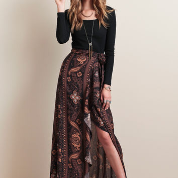 Patti Skirt In Brown Moonshine By Novella Royale