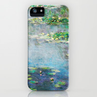 1906 Water Lily oil on canvas by Claude Monet. iPhone & iPod Case by ArtsCollection
