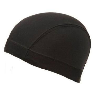 Heavyweight Spandex Dome Cap-Black