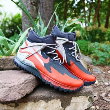 spbest NIKE TERRA SERTIG BOOT - Anthracite/Dragon Red