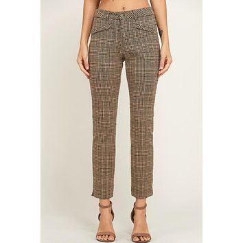 Tan Plaid Slacks