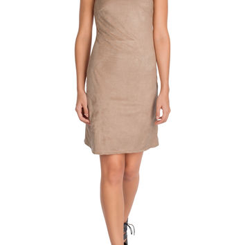 Valina Suede Halter Dress-FINAL SALE