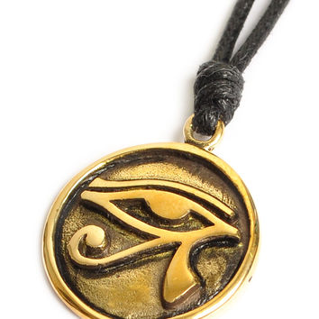 Eye of Ra - Ancient Egypt Handmade Brass Necklace Pendant Jewelry