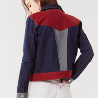 UO Western Colorblock Gas Jacket   Urban Outfitters