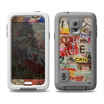The Torn Newspaper Letter Collage V2 Samsung Galaxy S5 LifeProof Fre Case Skin Set