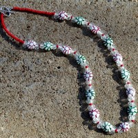 Peppermint Candy Garland Necklace