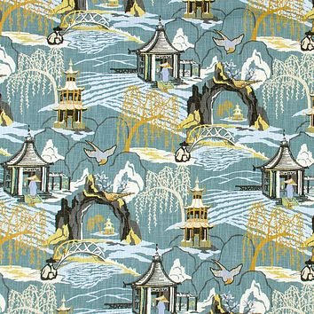 Robert Allen Fabric 236512 Neo Toile Cove