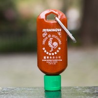 Huy Fong Sriracha Hot Sauce Keychain Bottle 1.69oz 3-Pack (Sauce Not Included)