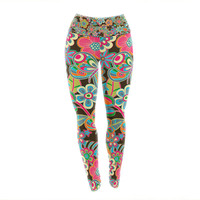 "Julia Grifol ""My Butterflies & Flowers"" Yoga Leggings"