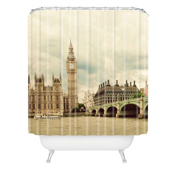 Happee Monkee Big Ben Shower Curtain