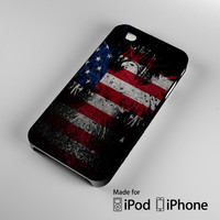 New American Eagle Flag A1503 iPhone 4S 5S 5C 6 6Plus, iPod 4 5, LG G2 G3, Sony Z2 Case