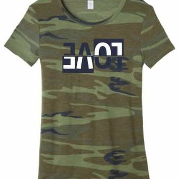 Wife Collection - Camo Upside Down Love - Alternative Eco-Jersey - Dawson Urban Design Apparel