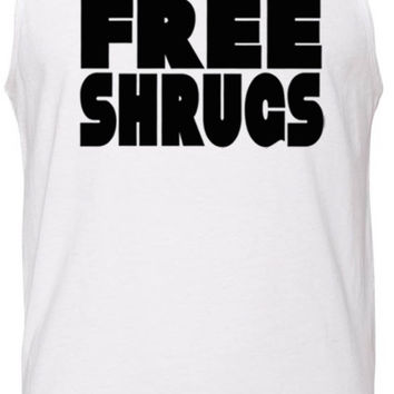Free Shrugs (Black) Tank-Top T-Shirt
